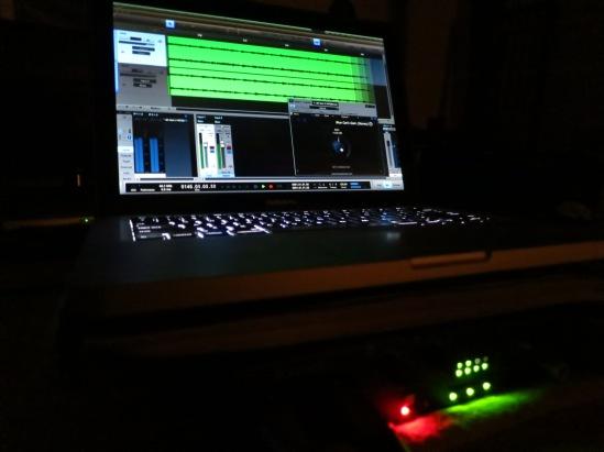 my recording setup presonus