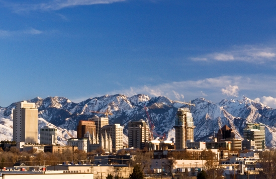 slc winter skyline
